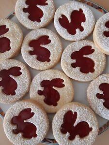 1kg Selbstgebackene  Kekse,  Gebäck, Oster Plätzchen mit Erdbeermarmelade