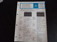 Schaltbild  Service Informationen Telefunken partner universal 301 picnic 301