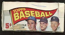 1965 Topps Baseball Card Empty 5 Cent Wax / Display Box Mickey Mantle
