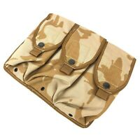 British Military Triple Magazine Pouch, MOLLE, Tactical 6 Mag, Desert DPM Camo