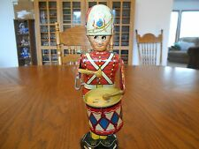 "Vintage Marx ""George the Drummer Boy"" Snare Drum, 9"" Tall, Moving Eyes, No Box"