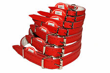 RED DOG PUPPY REAL LEATHER COLLARS small medium large
