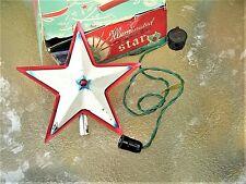 Antique Noma Illuminated Christmas Tree Topper ~ Shabby Tin Star In Shabby Box