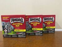 Lot of 3 Amdro Ant Killing Bait Indoor/Outdoor 24 Stakes