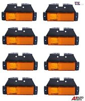 8X LED LIGHTS SIDE MARKER ORANGE AMBER AMBER TRAILER TRUCK LORRY RECOVERY 12/24V