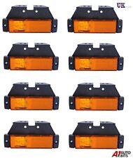 8X LED LIGHTS SIDE MARKER ORANGE AMBER AMBER TRAILER TRUCK LORRY RECOVERY 12/24V