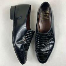 Grenson footmaster para Hombre Zapatos Negro Talla 11 Mocasines de cuero Hecho en Inglaterra AB1