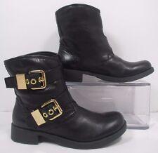 Nine West Vintage America Tamasina Black Leather Slip On Ankle Boots Sz 5M