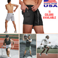 Men Gym Shorts Stealth Tights Pants Jogging Running Workout Fitness Crossfit NEW