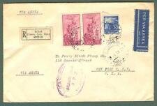 Storia postale. REPUBBLICA ITALIANA. Lettera aerea raccomandata del 19.01.1951..