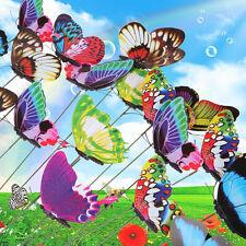 Hot Sale 20pcs Colorful Flowerpot Garden Decoration Butterfly Garden Ornaments
