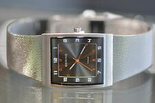 Bering Mens Slim Titanium Milanese Brushed Grey Quartz Watch Model# 11233-077