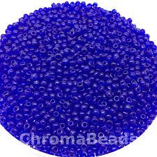 50g abalorios semilla de cristal Profundo Azul Transparente aprox. 3mm talla 8/0