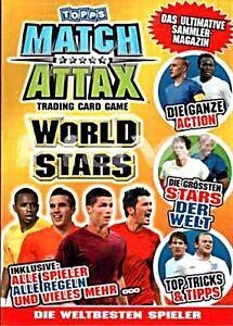 MATCH ATTAX WORLD STARS 2010 -  Basecards  75 - 98 auswählen - mint