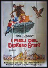 manifesto 4FG I FIGLI DEL CAPITANO GRANT   DISNEY GIULIO VERNE