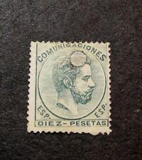 Spain  Scott#  189 King Amadeo 1872-73 Punch Cancel C428