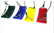 Kunststoffschaukel Schaukelsitz Kinderschaukel mit Seil Spielplatz Spieltürm