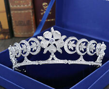 Wedding Princess Flower Hair Crown Tiara Bridal Rhinestone Headband Headpieces