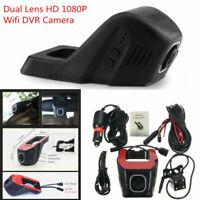 1080P Wifi Car Dual Lens DVR Rear Camera Video Recorder Dash Cam Night Vision &
