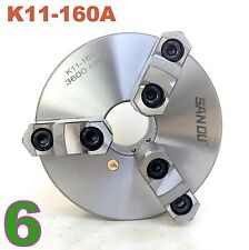 "1 pc Lathe Chuck 6"" 3 Jaw Self Centering w/ Reversible Jaw K11-160A sct-888"