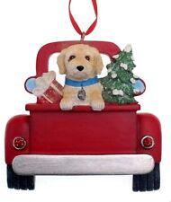 Kurt Adler Labradoodle Dog in Back of Truck Christmas Ornament