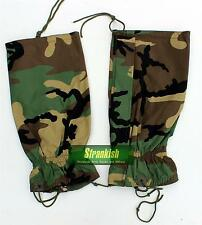 US ARMY STYLE LEG GAITERS IN WOODLAND CAMO