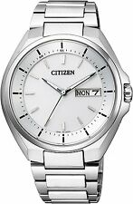 CITIZEN ATTESA AT6050-54A Eco-Drive Radio Clock Watch Day Date Display New