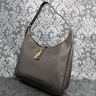 Rise-on Vintage HERMES Trim 31 Dark Brown Leather Shoulder bag Handbag #51