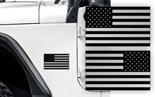 Silver Usa American Flag Stickers | Decals Emblems Jk Jt Tj Truck Suv 4x4 Car