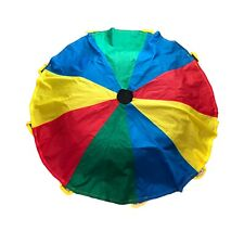 Kids 6 FT Rainbow Parachute Elementary Music Game Fun 9 Handles Circle Children