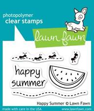 """Stempel """"Happy Summer"""" Lawn Fawn, Melone, Ameisen, Clear Stamps"""