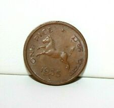 1955B India 1 One Pice Coin KM 1.4