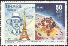 BRASILE 1969 spazio/Apollo 11/atterraggio sulla luna/Palloncini/volo/trasporto 1v (n29474)