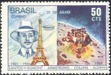 Brazil 1969 Space/Apollo 11/Moon Landing/Balloons/Flight/Transport 1v (n29474)