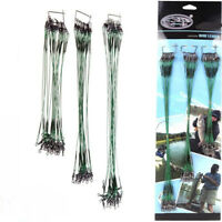 20PCS Green 15/20/25cm Snap Fishing Trace Lures Leader Steel Wire Spinner DIY