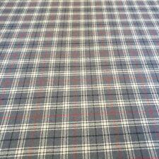 100% Yorkshire Wool Náutico Azul Tartán Cuadros Cortina Craft Tela 2.3 Metros
