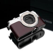 GARIZ Genuine Leather Half Case Panasonic Lumix GF7 Brown XS-CHGF7BR