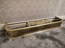 Stunning Victorian Antique Brass Curb fire FENDER /w hot plate war