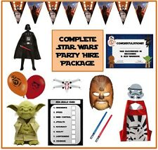 STAR WARS Party Package/Set/Kit -party games, decorations, supplies, tableware