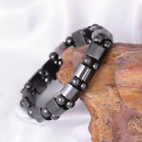 Magnetic Hematite Bracelet Pain Relief Powerful Elastic Therapy Arthritis Unisex