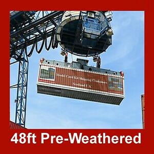 Rail Freight Shipping Containers 48ft HO Gauge 1:87 3 x In each set