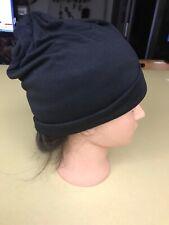 "10"" Black  Beanie Skull Cap Hat"