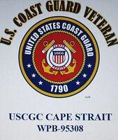 USCGC CAPE STRAIT  WPB-95308*CAPE CLASS CUTTER*U.S COAST GUARD EMBLEM SHIRT