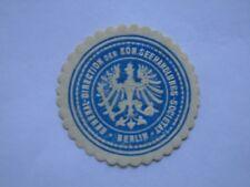 Siegel Marke GENERAL DIRECTION DER KON. SEEHANDLUNGS-SOCIETAT BERLIN