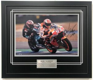 Marc Marquez Hand Signed 2019 Framed, Limited Edition Photo 'Fighting Fabio'