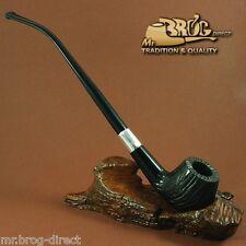 "Mr.Brog original HAND MADE long smoking pipe nr. 59 black full carved "" HOBBIT """