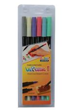 Marvy Le Plume II Markers SAVANNAH Double Ended Set of 6 1122-6H Brand NEW!