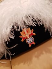 Knights of Columbus White Ostrich Feather Chapeau Hat
