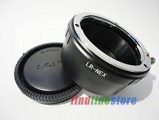 Leica R LR Lens to Sony E NEX 3 NEX 5 NEX 7 NEX C3 5R 5T a7R a6000 adapter + CAP