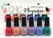 China Glaze Nail Lacquer MINI - CHIC PHYSIQUE - 6 Colors x 0.125oz